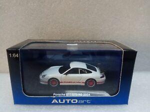 PORSCHE 911 GT3 RS 2004 WHITE  AUTOART 1/64 #28031