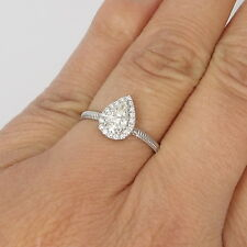 Wert 1420 € Brillant Diamant Ring dehnbar flexibel Tropfen (0,35 Ct) 750er Gold
