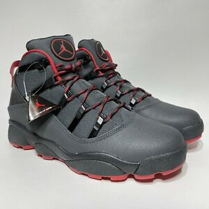 Nike Air Jordan Winterized 6 Rings Men's Size 11 Anthracite Red Black 414845-005