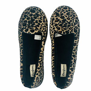 Dearfoams Women's Rebecca Microfiber Velour Closed Back Slippers Large 9-10