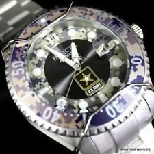 Invicta US Army Black Camouflage Grey Stainless Steel Automatic 47mm Watch