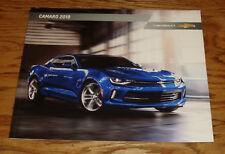 Original 2018 Chevrolet Camaro Sales Brochure 18 Chevy ZL1 SS LS LT