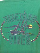 Vineyard Vines mens Green Whale Long Sleeve T Shirt XL XLarge Christmas Boat