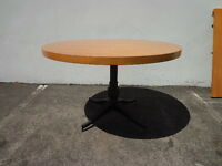 Dining Table Mid Century Modern Traditional Milo Baughman Inspired Wood Metal