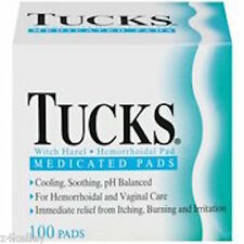Tucks Hemorrhoidal Pads With Witch Hazel, Medicated, 100ct