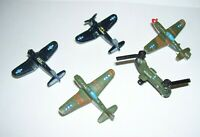 Micro Machines Army & Navy Military Airplanes Lot of 5