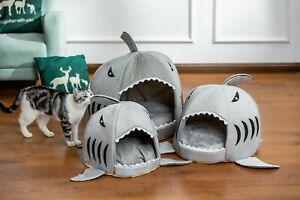 1 Small Shark shape Cat House Pet Soft Bed small Dog Cushion bed
