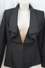 Tahari ASL Womens Blazer Sz 2 Dark Grey Betty Business Dinner Cocktail Jacket