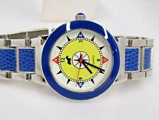 Jeffrey Banks Round Compass Face Watch Blue