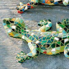 Eidechse Dekoration 20 cm Mosaik Grün
