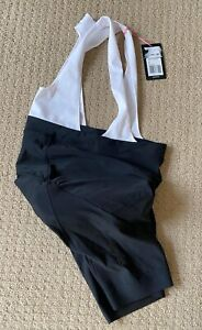 NEW Rapha Women's Core Bib Shorts Large LRG Black/White