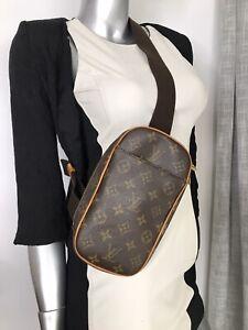 AUTH  Louis Vuitton POCHETTE GANGE Fanny  Pack Bumbag Sling Waist Bag Monogram