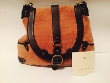 CELINE Suede Classic C Logo Bag W/ Chain & Leather Accents - Preowned