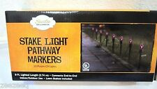 New Halloween Stake Lights Pathway Markers 9FT Outside Decor