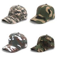 Unisex Baseball Caps Hip Hop Camo Cap Casual Adjustable Dad Hat Outdoor Snapback