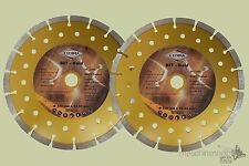 2 x CEDIMA Diamant Trennscheibe 230mm Gold für Beton Naturstein Diamantscheibe