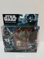 """Star Wars Rogue One 4"""" Rebel Commando Pao Imperial Death Trooper 2pk MISB New"""