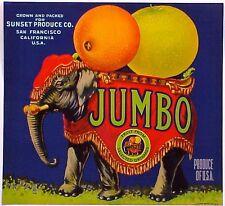 *Original* JUMBO San Francisco CIRCUS ELEPHANT *RARE* Orange Label NOT A COPY!