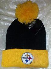 Pittsburgh Steelers Womens Black Knit Beanie Rhinestone Bling Cap Hat ~NEW~