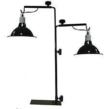 Komodo double light stand reptile vivarium réglable tortue table lampe chauffante
