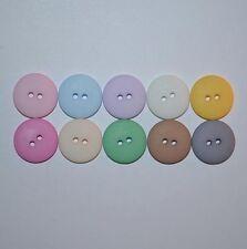 8 Matte Smartie Buttons, 10 designer colours. 26, 22, 20, 18, 16, 14, 13 & 11mm
