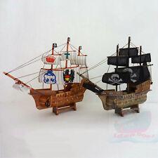 WOOD MODEL 34cm length PIRATE SHIP Sailing Boat Corsair Tall Ship Nautical decor