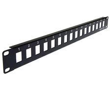 1U Blank Patch Panel, Keystone Jack Network Rack Mount, 16 Ports - PP3-309/16