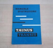 Furgone Ford Taunus Transit Libretto Manuale Uso e Manutenzione 1961 RARO