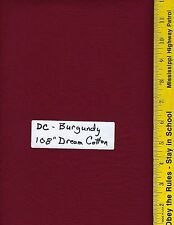 """DCW BURGUNDY 108"""" EXTRA WIDE QUILT BACKING, BTY, 100% COTTON,  DREAM COTTON"""