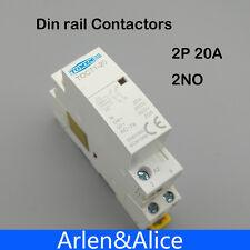 TOCT1 2P 20A 220V/230V 50/60HZ Din rail Household ac contactor 2NO