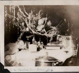 VINTAGE PHOTOGRAPH CHRISTMAS TREE TOY BOSTON TERRIER DOG PICHER OKLAHOMA PHOTO