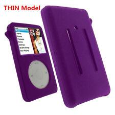 Purple Silicone Skin Cover Case fr iPod Classic 6th Gen 80/120GB  Video 5th 30GB