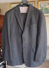 mens US 38 Hugo Boss black gray suit blazer jacket coat pants super 120s wool