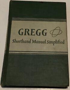 gregg shorthand manual simplified circa 1950 Hardback Book