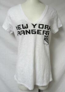 New York Rangers Women's Size Medium Semi Sheer V-Neck T-Shirt A1 3387