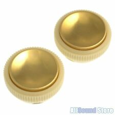 NEW Hofner Set of 2 Tea Cup Teacup Knobs for Beatle Bass, Guitar - CREAM & GOLD