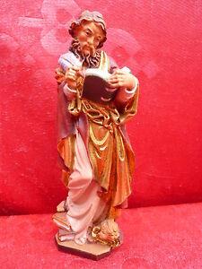 Noble Figurine Saint (Bien Matthäus)__Sculpté Et Préparé __ Tyrol