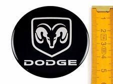 DODGE ★ 4 Stück ★ SILIKON Ø55mm Aufkleber Emblem Felgenaufkleber Radkappen