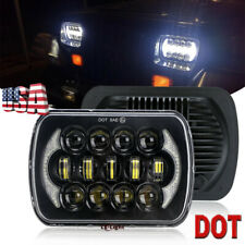 "Newest Brightest 105W 7X6"" 5X7"" LED Headlight DRL For Jeep Cherokee XJ Chevrolet"
