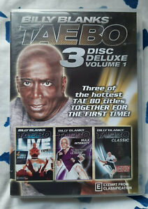 Billy Blanks Tae Bo 3 Disc Deluxe Volume 1 - Water Damaged Cover