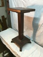 Vintage Solid Wood Primitive Style Shelf Plant Stand Country Cottage 24in tall