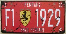 SUPER CAR F02 METAL TIN SIGN NUMBER PLATE, vintage shabby chic gift, UK