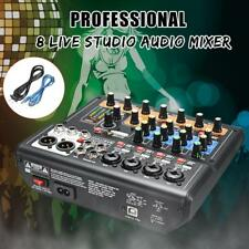 Claite 8-Channel Sound Card Digital Audio Mixer Mixing Console Recording Live