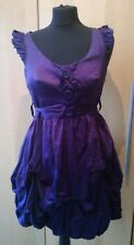 new look purple dress size 10' cute button balloon hem gathered.