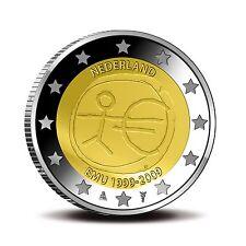 """Nederland 2 euro """"10 jaar EMU"""" 2009 UNC Commemorative,zo uit de rol"""