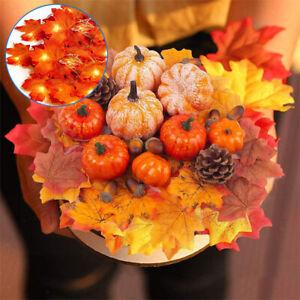 Mini Artificial Pumpkin Harvest Autumn Wreath Halloween Decorations Props Decor