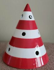 Yankee Candle, Cone Shaped, Red & White, Christmas Candle Shade