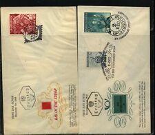 Austria B264,  B272  2  stamp  day  covers            MS0902