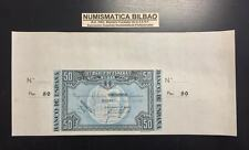 BILBAO 50 PESETAS 1937 BANCO DE BILBAO SC MATRIZ GRANDE ORIGINAL BILLETE EUZKADI