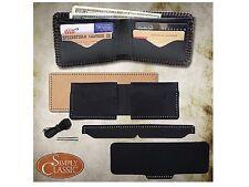Springfield Leather Company DIY Premium Black Buffalo 4 Pocket Wallet Kit
